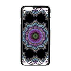 Fractal Lace Apple iPhone 6/6S Black Enamel Case