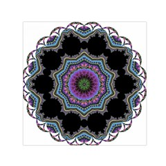 Fractal Lace Small Satin Scarf (square)