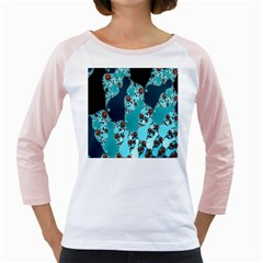 Decorative Fractal Background Girly Raglans