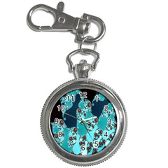 Decorative Fractal Background Key Chain Watches