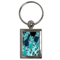 Decorative Fractal Background Key Chains (rectangle)