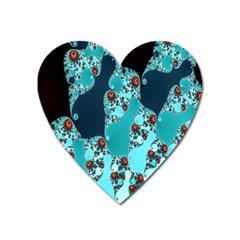 Decorative Fractal Background Heart Magnet