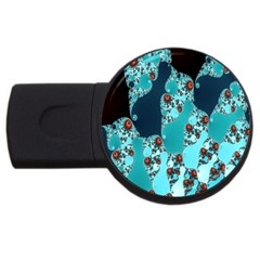 Decorative Fractal Background USB Flash Drive Round (1 GB)