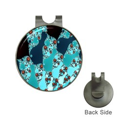 Decorative Fractal Background Hat Clips with Golf Markers