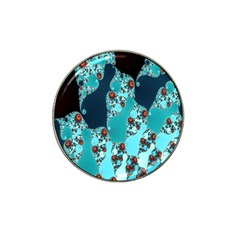 Decorative Fractal Background Hat Clip Ball Marker (4 Pack)