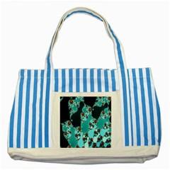 Decorative Fractal Background Striped Blue Tote Bag