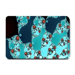 Decorative Fractal Background Small Doormat