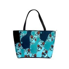 Decorative Fractal Background Shoulder Handbags