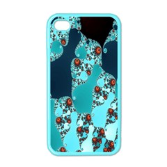 Decorative Fractal Background Apple iPhone 4 Case (Color)