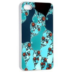 Decorative Fractal Background Apple iPhone 4/4s Seamless Case (White)