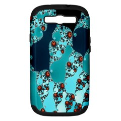 Decorative Fractal Background Samsung Galaxy S III Hardshell Case (PC+Silicone)