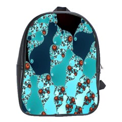 Decorative Fractal Background School Bags (XL)