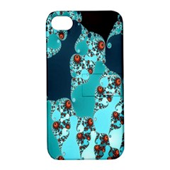 Decorative Fractal Background Apple iPhone 4/4S Hardshell Case with Stand
