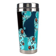 Decorative Fractal Background Stainless Steel Travel Tumblers