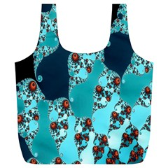 Decorative Fractal Background Full Print Recycle Bags (L)