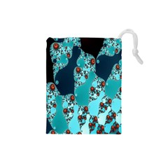 Decorative Fractal Background Drawstring Pouches (Small)
