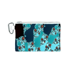 Decorative Fractal Background Canvas Cosmetic Bag (S)
