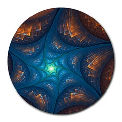 Fractal Star Round Mousepads