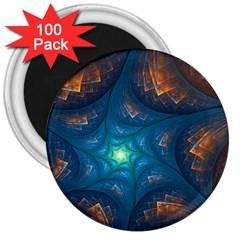 Fractal Star 3  Magnets (100 Pack)