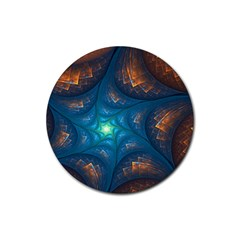 Fractal Star Rubber Round Coaster (4 pack)