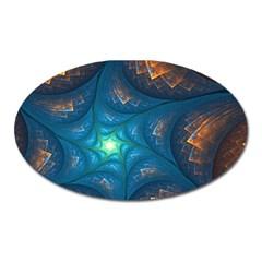 Fractal Star Oval Magnet