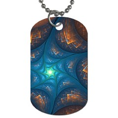 Fractal Star Dog Tag (One Side)