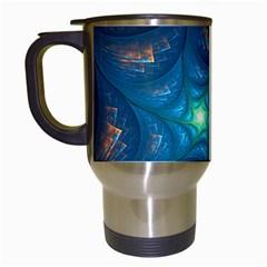 Fractal Star Travel Mugs (White)