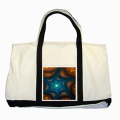 Fractal Star Two Tone Tote Bag