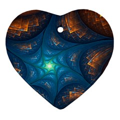 Fractal Star Heart Ornament (two Sides)