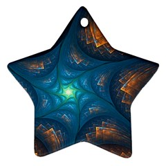 Fractal Star Star Ornament (two Sides)