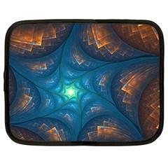 Fractal Star Netbook Case (Large)