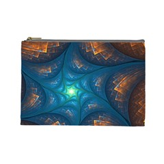 Fractal Star Cosmetic Bag (large)