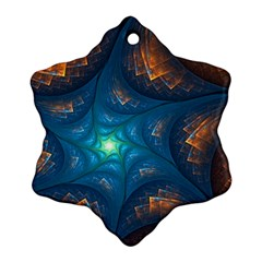 Fractal Star Snowflake Ornament (Two Sides)