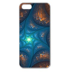 Fractal Star Apple Seamless iPhone 5 Case (Clear)
