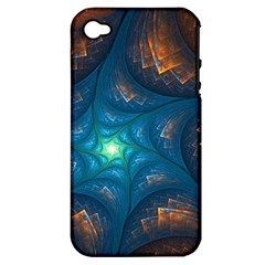Fractal Star Apple iPhone 4/4S Hardshell Case (PC+Silicone)