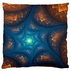 Fractal Star Large Flano Cushion Case (One Side)