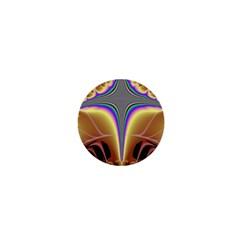 Symmetric Fractal 1  Mini Buttons