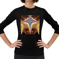 Symmetric Fractal Women s Long Sleeve Dark T-Shirts
