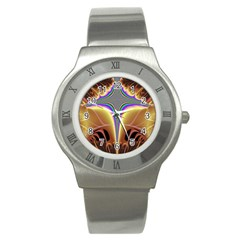 Symmetric Fractal Stainless Steel Watch
