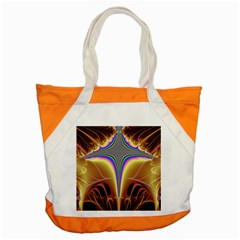 Symmetric Fractal Accent Tote Bag