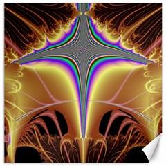 Symmetric Fractal Canvas 16  X 16