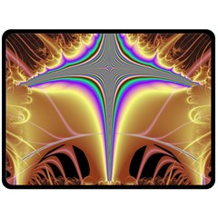 Symmetric Fractal Double Sided Fleece Blanket (large)