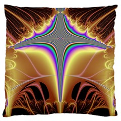Symmetric Fractal Large Flano Cushion Case (one Side)