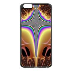 Symmetric Fractal Apple iPhone 6 Plus/6S Plus Black Enamel Case