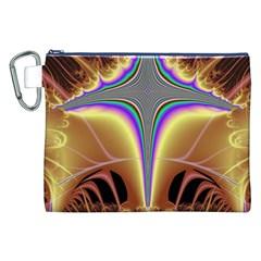 Symmetric Fractal Canvas Cosmetic Bag (XXL)
