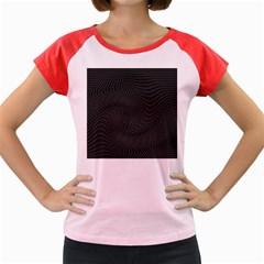 Distorted Net Pattern Women s Cap Sleeve T Shirt