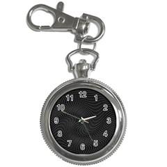 Distorted Net Pattern Key Chain Watches