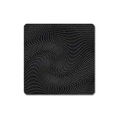 Distorted Net Pattern Square Magnet