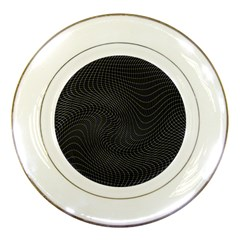 Distorted Net Pattern Porcelain Plates