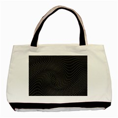 Distorted Net Pattern Basic Tote Bag